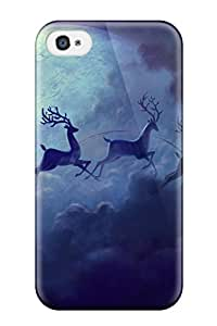 Alan T. Nohara's Shop Discount 4456380K89382447 High Quality Durability Case For Iphone 4/4s Santa Sled Moon Christmas