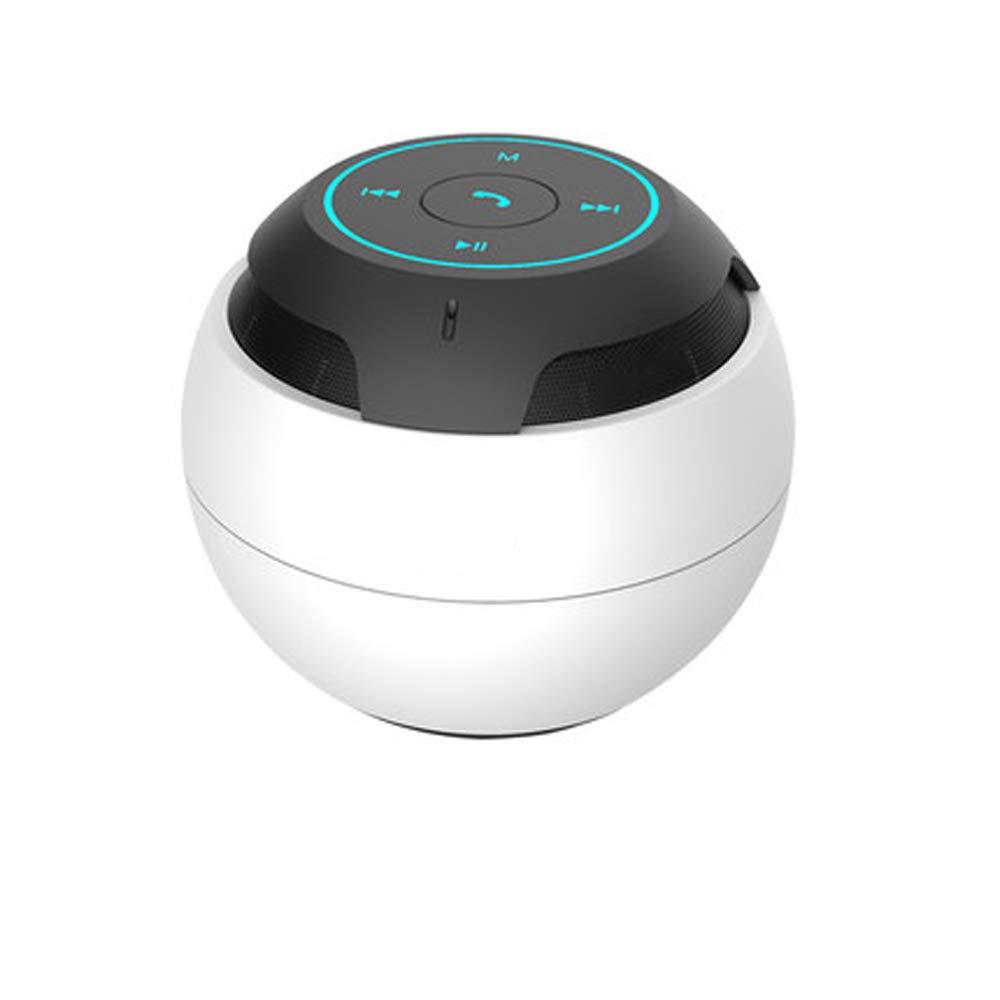 YWYU ポータブルワイヤレスアウトドアBluetoothスピーカー デュアルドライバー 重低音強化マイク内蔵サブウーファー AndroidとiOS用ギフト, ホワイト, NA  ホワイト B07MRDXM7B