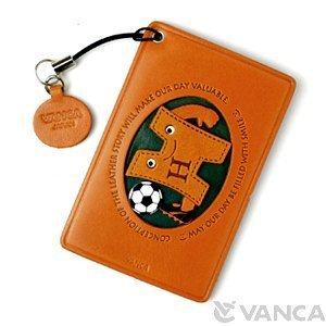 Handmade Japan Case in H Soccer ID Sports Pass Card Leather VANCA Holder Credit Tfxqv1n
