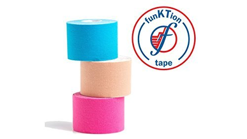Medical Grade Precut Kinesiology Tape By Funktion Tape   Latex Free And Hypoallergenic Adhesive   Water   Sweat Resistant For 72 Hours   Pre Cut For Fast Application  Pink