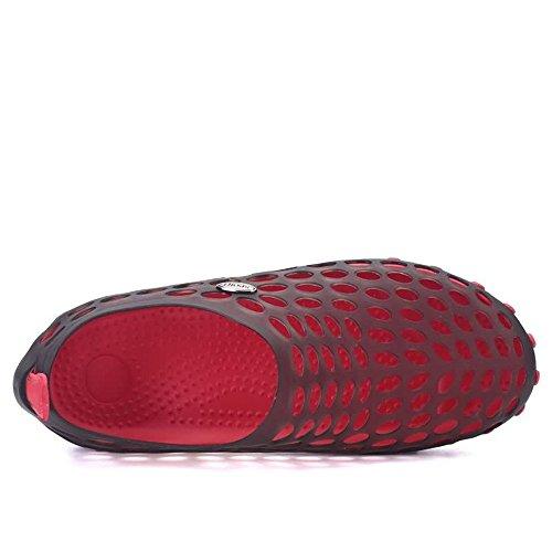 Zuecos de Libre Sandalias Agua para al Vamp al Aire 45EU tamaño Vamp Caminar Zapatos Rojo rrgpR
