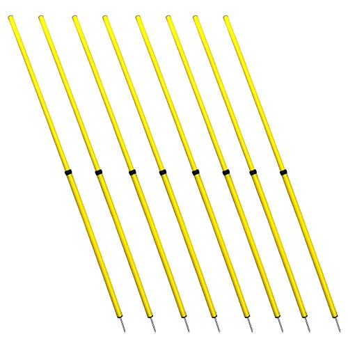 Energi 8_blu Speed Fitness Crossfit Workout Slalom Soccer Agility Telescopic Poles 8pc 5 Foot by Energi 8_blu