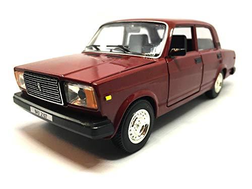 Nova Sedan - VAZ-2107 Red 1/24 Scale Lada 1500 Riva Nova Soviet Sedan USSR 1982 Year Collectible Diecast Metal Model Car & Toy for Kids