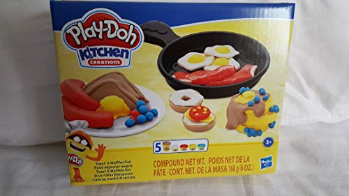 Play-Doh Kitchen Creations Breakfast Toast Waffles Set