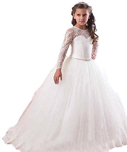 RMdress RMdress Prinzessin Spitze Brautjungfer Taufe Festkleid ...