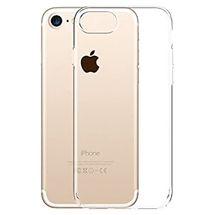 buy online 58e83 017ec Plus Exclusive Soft Silicone TPU Clear Case Back Cover for Apple iPhone 7  Plus, 0.3mm (Transparent)