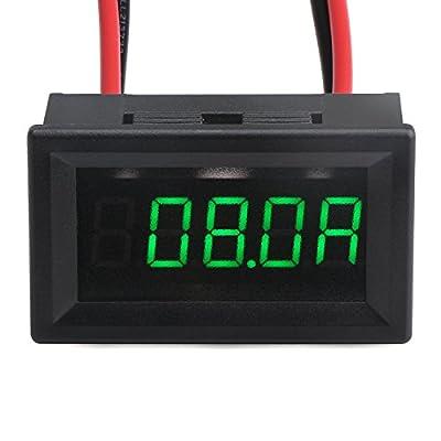 DROK0.40'' DC2.5-30V LED Waterproof Digital Voltmeter 12V/24V Voltage Meter Gauge Panel Battery Volt Monitor Tester with 2 Wires and Bright Red Digital Display for Solar Panel Lithium ion battery 18650 Monitoring …