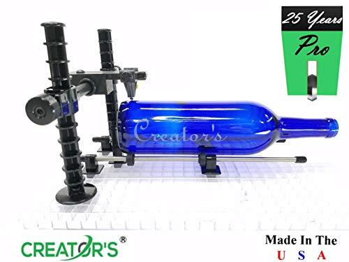 Creator's Over-The-TOP Advanced Artist's Glass Bottle Cutter with Carbide Scoring Wheel - Precision Professional Instrument - Cut Beer, Wine Bottles, Bottle Necks, and Neck Contours - Made in The USA