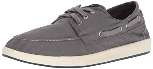 SPERRY Men's Drift 3-Eye Boat Sneaker, Grey, 12 Medium US ()