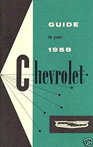 1958 Chevrolet Owners Manual Biscayne Bel Air Impala Chevy 58 - Impala Vent