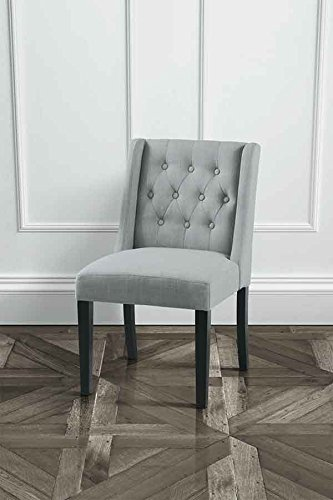 MYFurniture Wing Grey High Quality Upholstered Dining Chair - Upholstered dining chairs uk