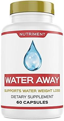 Water Away Herbal Natural Diuretic Weight Loss Blend with Juniper Berry, Green Tea, Paprika 60 Capsules