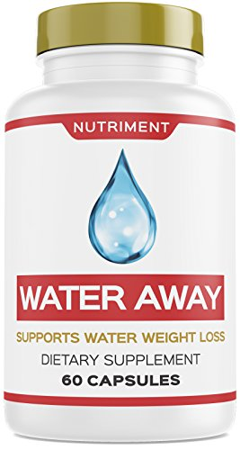 Water Away Herbal Natural Diuretic Weight Loss Blend with Juniper Berry, Green Tea, Paprika 60 Capsules by Nutriment