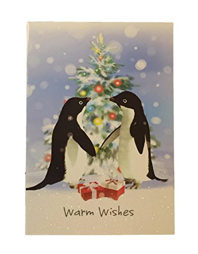 Holiday Boxed Christmas Cards Set of 28 - Variety to Choose From (Warm Wishes - Penguins Boxed Card Holiday