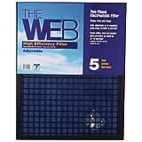 WEB WEB1ADJ High Efficiency 1'' Filter, 14 x 20 to 20 x 25