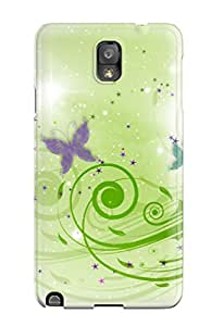 5248870K63626828 Cute Appearance Cover/tpu Butterfly Designs Case For Galaxy Note 3