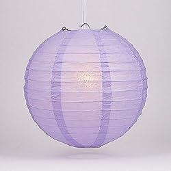 """Quasimoon PaperLanternStore.com 8"""" Lavender Round Paper Lantern (10 Pack)"""