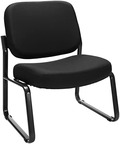 OFM Core Collection Big and Tall Upholstered Armless Guest and Reception Chair