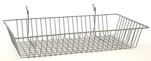 Wire Basket Slatwall Gridwall Pegboard Display Store Fixture Lot of 6 Chrome NEW by Bentley's Display