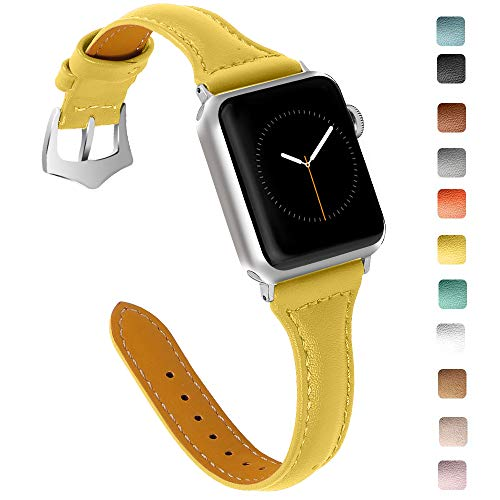 OULUCCI Compatible Apple Watch Band 38mm 40mm, Top Grain Leather Band Replacement Strap for iWatch Series 4,Series 3,Series 2,Series 1,Sport, Edition
