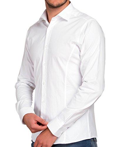 Casual Basic Bianco Uomo Redbridge Camicia Classico E5xqxB