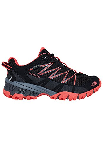 THE NORTH FACE W Ultra 110 GTX (EU), Zapatillas de Senderismo para Mujer Negro (Tnf Black/Cayenne Red)
