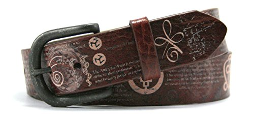 Leather Island 38mm Tribute to Faith Healing Leather Belt