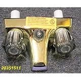 "4"" Polish Brass Mobile Home RV Marine Tub Shower Faucet"