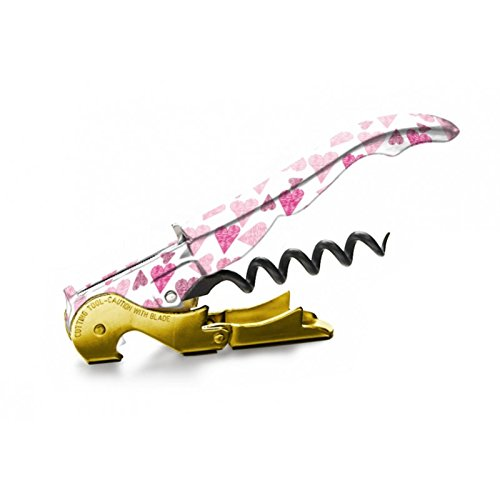 Pulltap's Genuine Collection Love 900 Double-Hinged Lever Waiters Wine Corkscrew Bottle Opener (Pink Love)