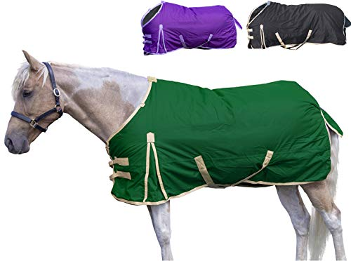 Deluxe Winter Blanket - Derby Originals 600D Deluxe Turnout Winter Blanket Waterproof, Insulated, Lined & Breathable Full Horse Sizes, 84