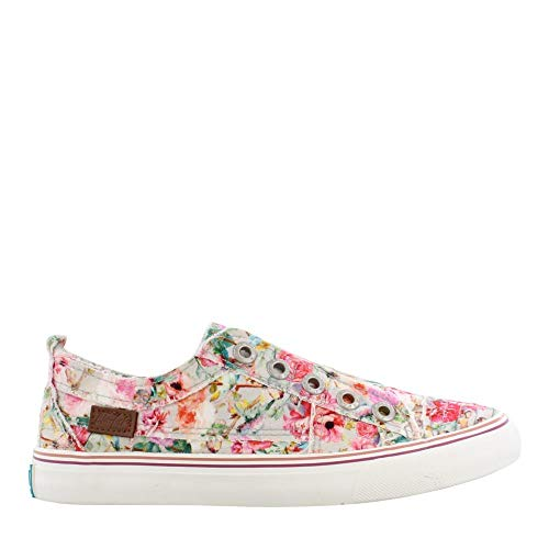 ay Slip on Shoes Grey Floral 7 M ()