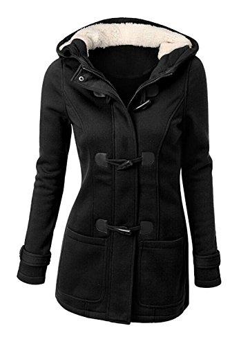 De La Chaudes Polaire Page De Taille Black Haut La Les l'hiver Bouton Plus Un Outercoats ZaA0gPq