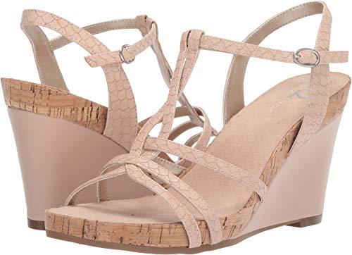 Aerosoles A2 Women's Plushed Nickel Wedge Sandal, Pink Snake, 10 M - Sandals Aerosoles Pink