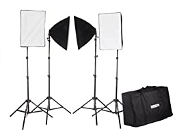 StudioPRO Photography Photo Video Studio Continuous Four 4 Socket AC Power Lights With 16\