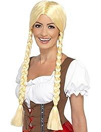 Smiffy's Women's Around The World Fancy Dres Bavarian Beauty Wig Plaited