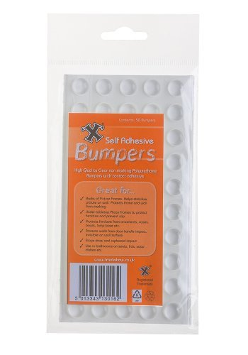 X 50-Self Adhesive Poly Bumpers by 'X'