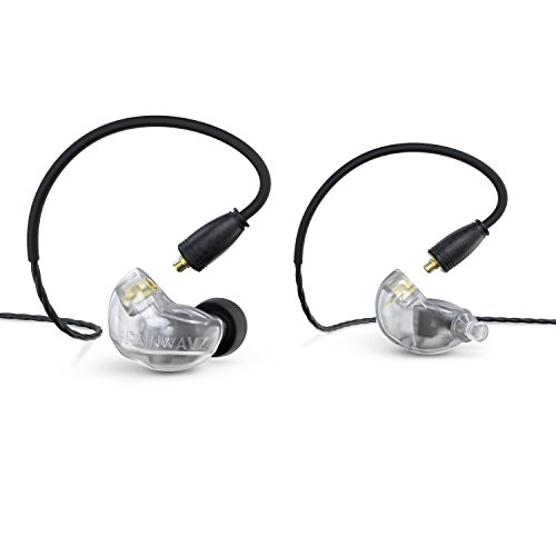 Brainwavz B400 Quad Balanced Armature Pro Reference Monitor Earbud Earphones with Detachable MMCX Cables