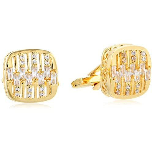 Stacy Adams Men's Square with Rounded Corners, Duplex Layers with Rhinestones