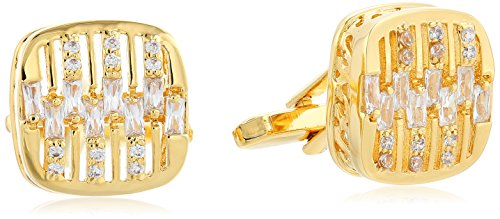 Stacy Adams Men's Square with Rounded Corners, Duplex Layers with Rhinestones, Gold, One ()