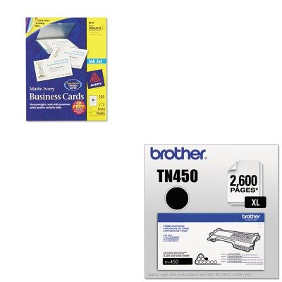 KITAVE8376BRTTN450 - Value Kit - Avery Two-Side Printable Business Cards (AVE8376) and Brother TN450 TN-450 High-Yield Toner (BRTTN450) by Avery