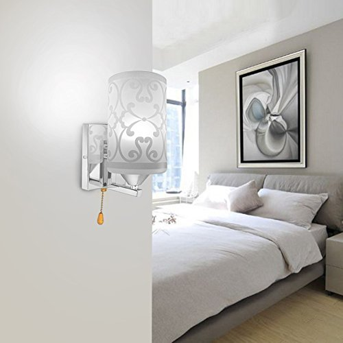Elitlife Elegant style Modern Wall Light Lamp Pattern Indoor energy saving for Bedside Lamp/Stair Lamp/Wall Sconce/Living Room witn Pull line switch & 3W warm light bulb (Cool White) by Elitlife (Image #2)