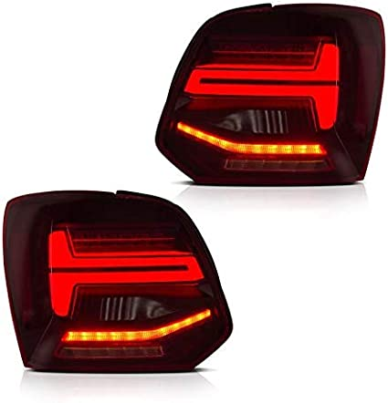 USEKA Luz trasera para Polo 6R 6C Mk5 2009-2017 LED rojo lente ...
