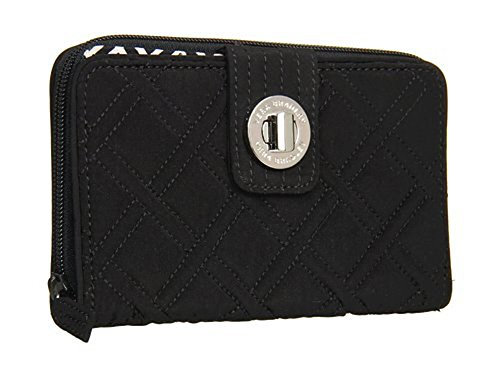 Vera Bradley Turn Lock Wallet in Classic Black ()