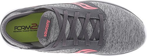 Saucony Women's Kineta Relay Grey/Heather/Coral Sneaker 10 B (M)