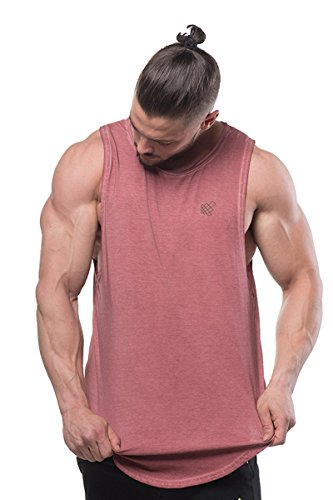 Jed North Mens Loose Fitted Muscle Tee Bodybuilding Stringer Tank Top