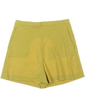 Womens Tarrytown Linen High Waist Casual Shorts