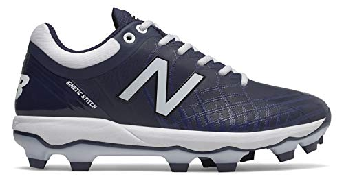 - New Balance Men's 4040v5 Molded Baseball Shoe, Navy/White, 5 2E US