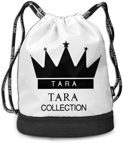 メンズ レディース 兼用t-Ara Logo1 ナップサック アウトドア ジムサック 防水仕様 バッグ 巾着袋 スポーツ 収納バッグ 軽量 バッグ 登山 自転車 通学・通勤・運動 ・旅行に最適 アウトドア 収納バッグ