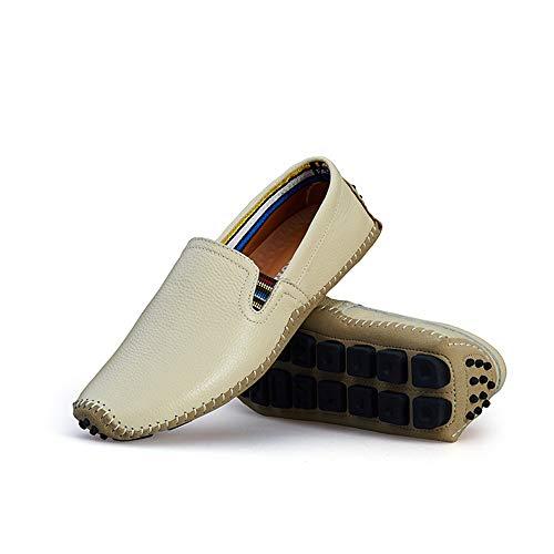 24 gommino gommino 28 Mocassino Scarpe Zgsjbmh Dimensioni Morbido uomo bianco comfort unico leggero da pelle basse Mocassino design in 5cm e da vera d'affari basse Scarpe donna 0cm p1gp4Y