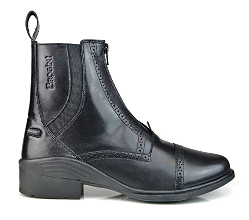 Stable New Espom Outdoor Yard Black Horse Leather Pony Boot Brogini Short Ankle Riding d0W1q5dn